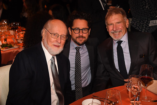 John Williams, J.J. Abrams and Harrison Ford