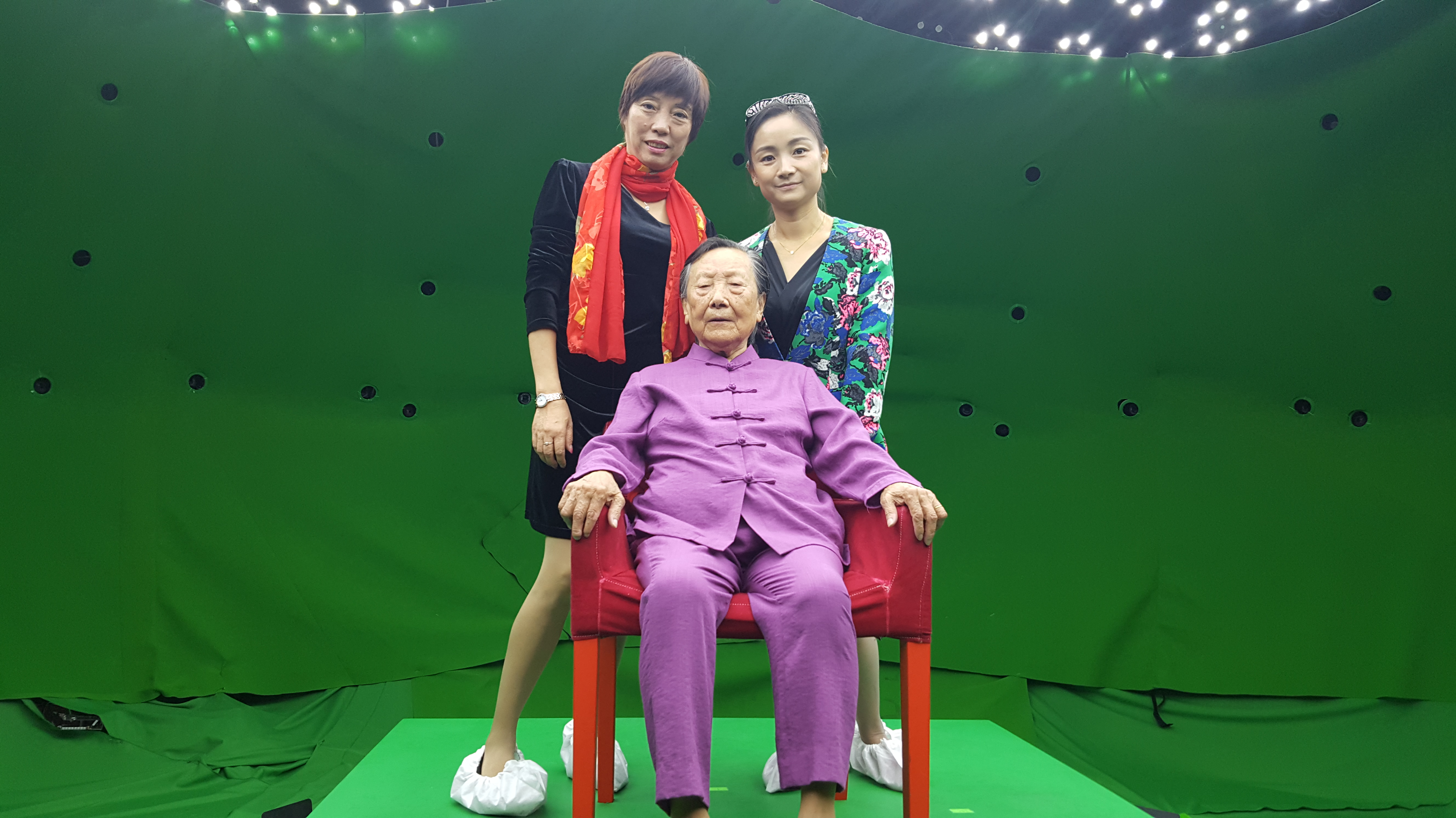 Madame Xia (seated) with family