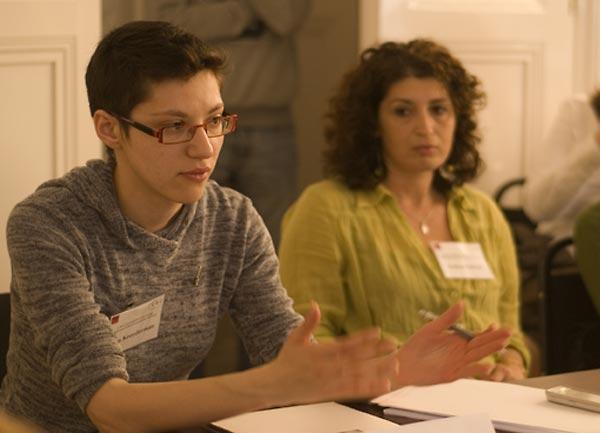 Kira Kreyderman, educator, Moldova; and Andrea Szőnyi, SFI Regional Consultant, Hungary.