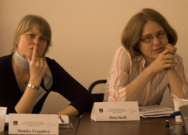 Monika Vrzgulová, Director of the Holocaust Documentation Center, Bratislava, Slovakia; and Dóra Sárdi, Director of Education, CENTROPA.