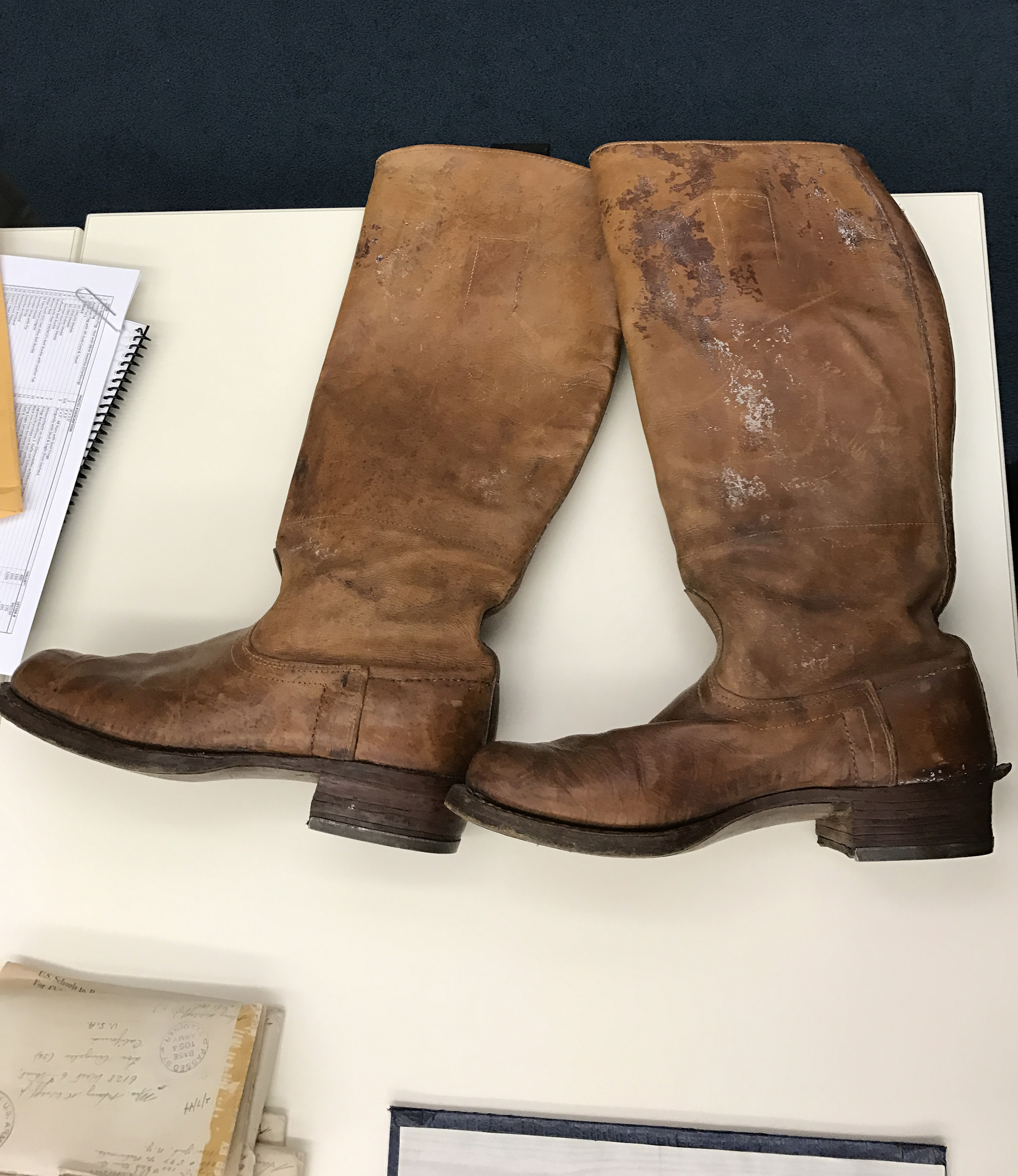Boots a Holocaust survivor made for Lt. Wolff