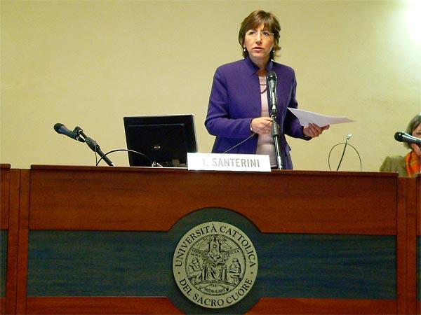 Milena Santerini, Professor at Universita Cattolica del Sacro Cuore, at Seminar, 24 March 2009.