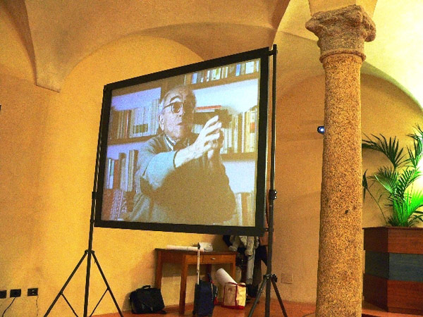 Vittorio Foa's testimony projected at the Universita Cattolica del Sacro Cuore Seminar, 24 March 2009.