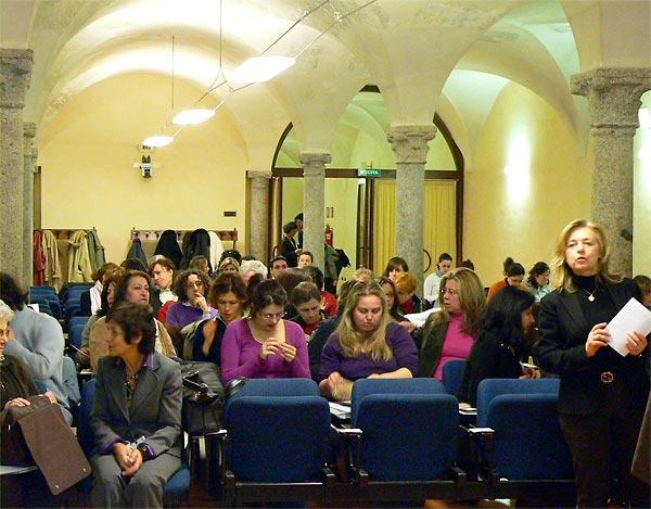 Awaiting Martin Smok's presentation at Universita Cattolica del Sacro Cuore Seminar, 24 March 2009.