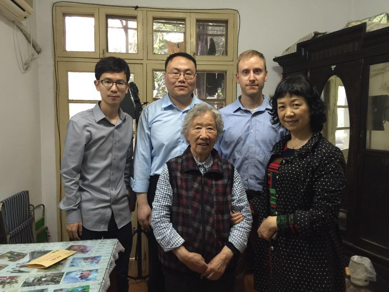 Back row from left: Cheng Fang, Yanming Lu, Zach Goode. Front row: Jing Zhizhen