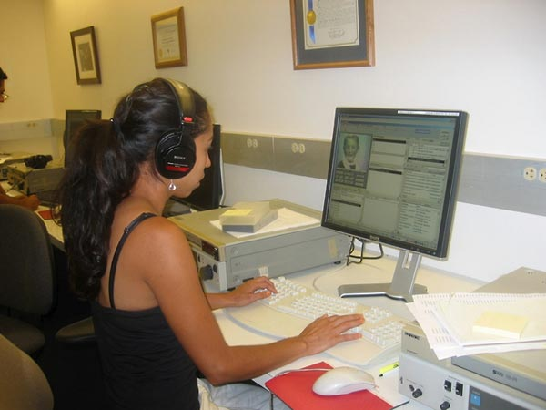 Angelica Ochoa helped to complete the indexing of the Spanish language testimonies in the archive (2006).