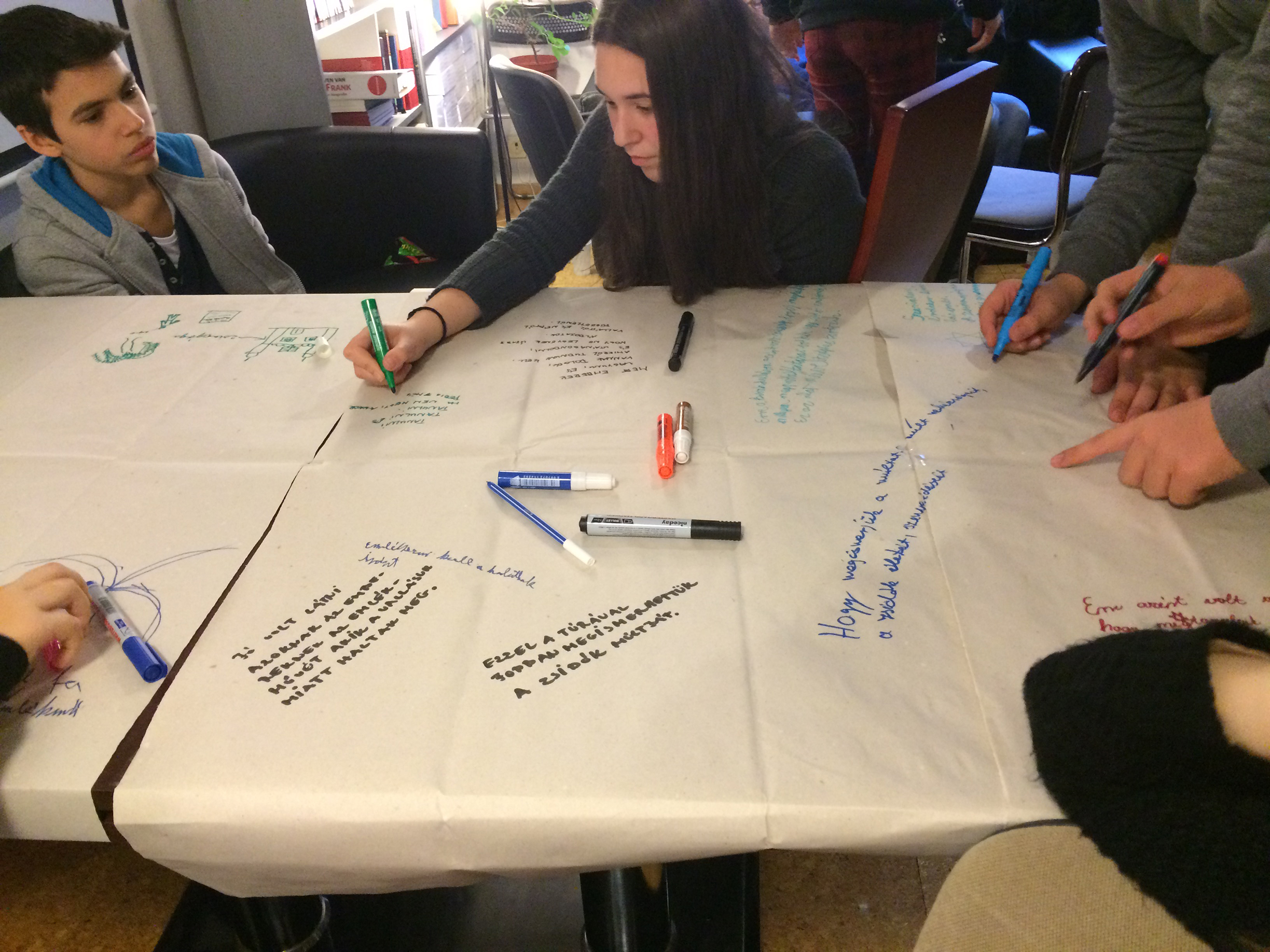 The students reflect on the Budapest IWalk