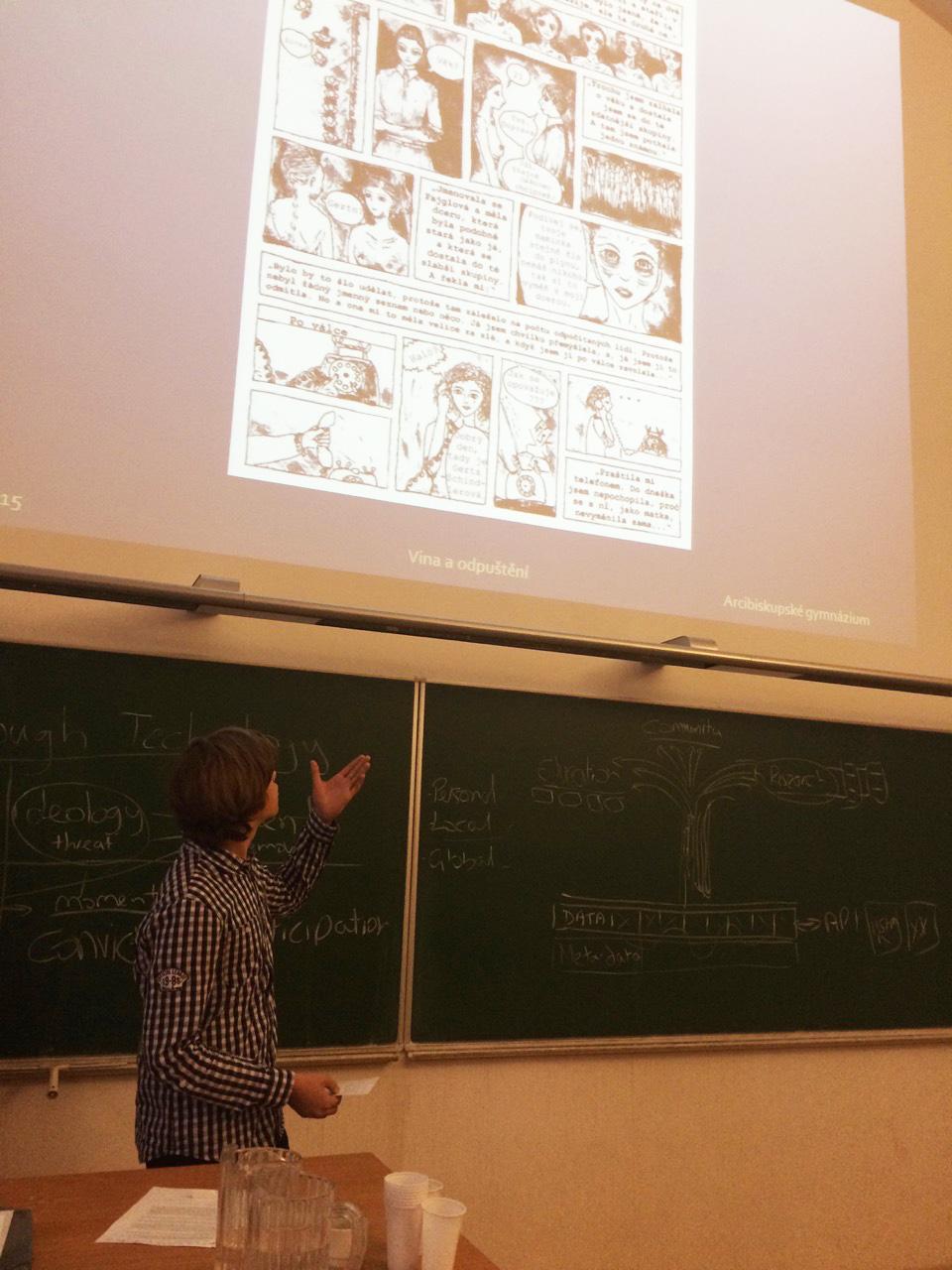 One of the student cartoons based on VHA testimony