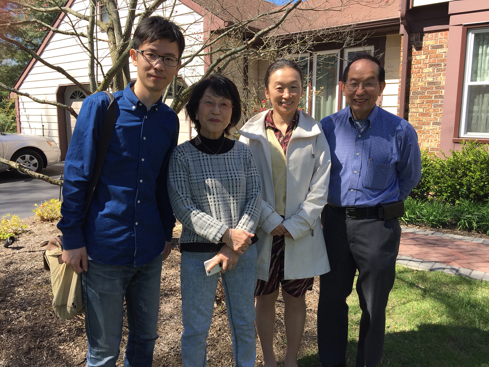 Left-right: Cheng Fang, Tamaki Imanishi, Kei Imanishi, Don Tow, who helped organize the interview