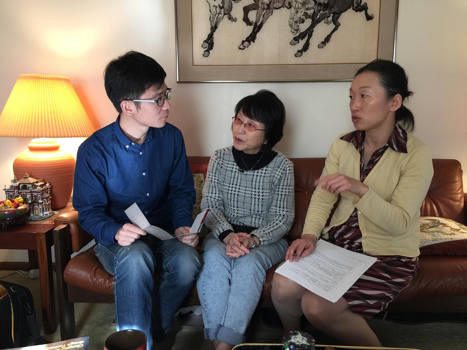 Left-right: Cheng Fang, Tamaki Matsuoka, Kei Imanishi