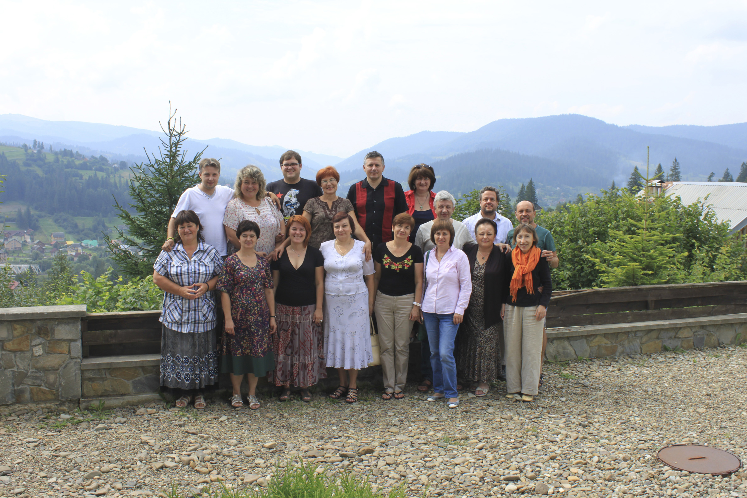 Teaching with Testimony cohort in Slavske, Ukraine.