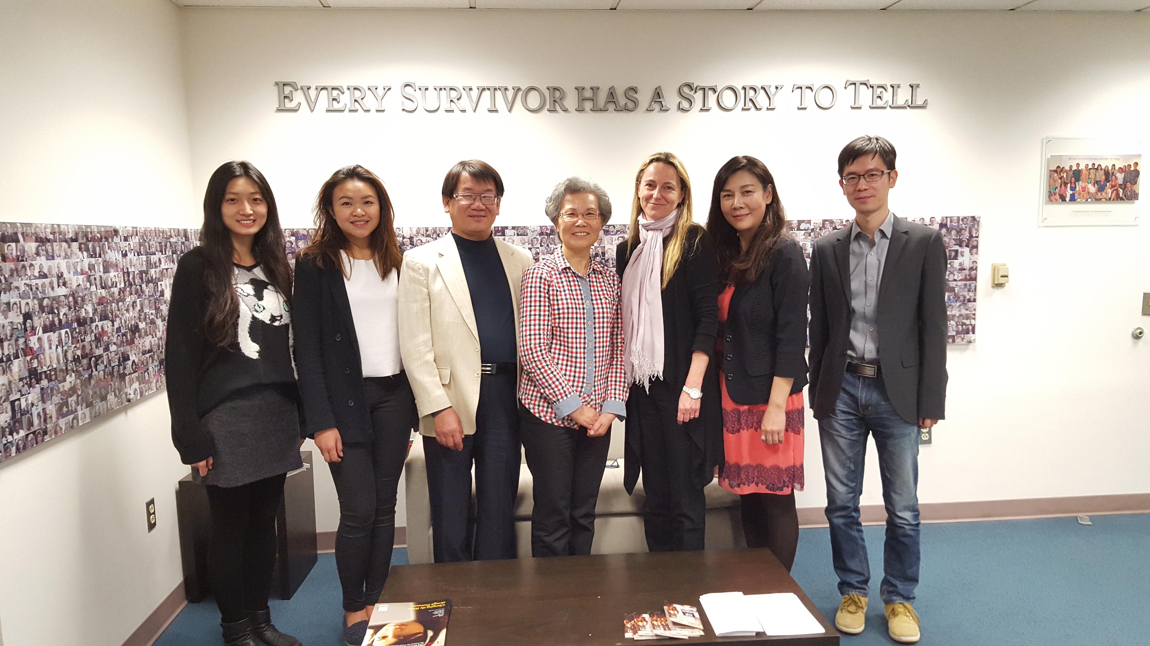 L-R: Gina (Ge Jin), Natalie Ngan, Mark S. Liu (Liu Xiang), Madam Xu Kangying, Karen Jungblut, Janet Zhang (Zhang Jiena), Cheng Fang