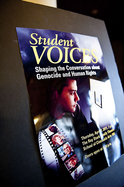 Student Voices 2011 Event Poster.