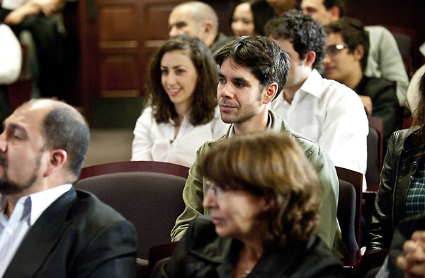 IML instructor Gabriel Peters-Lazaro in the audience at the Student Voices 2011 Event.