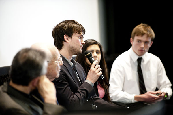 Sean Simerly participates in the panel discussion.