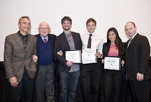 Student competition winners with Members of the Jury and Institute Executive Director.