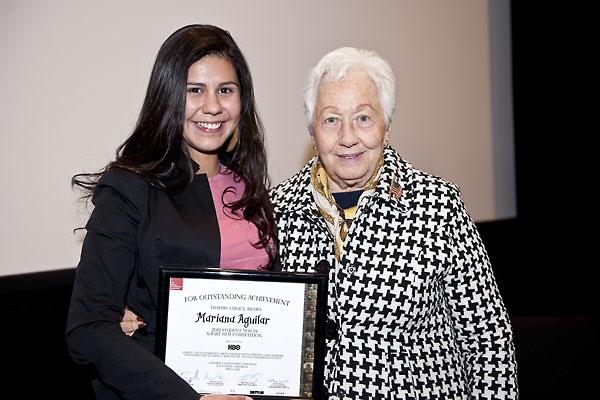 Mariana Aguilar meets Holocaust survivor and educator Renee Firestone.