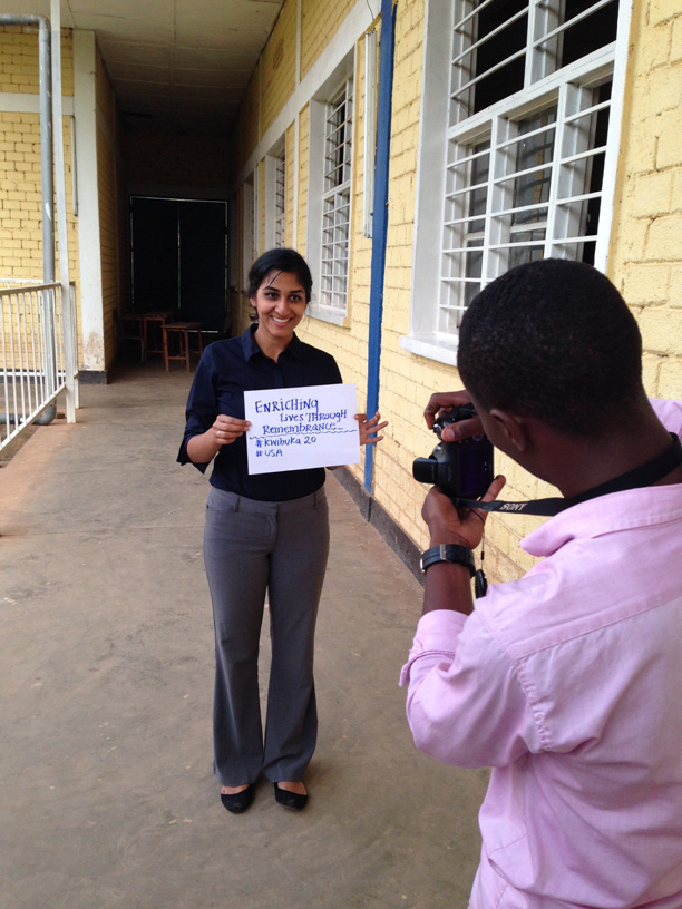 Shefali Deshpande shows her contribution to the Kwibuka20 memorial project