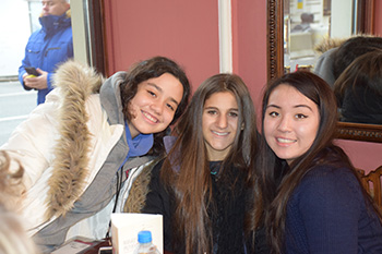 Ruth, left, with Junior Interns Lacey Rubin and Natalia Smith