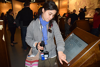 Ruth at the Museum of the History of Polish Jews
