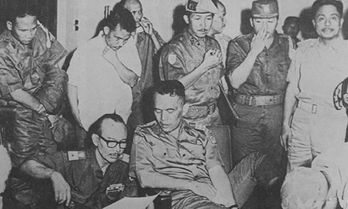 Indonesian General Nasution after the coup attempt on September 30, 1965
