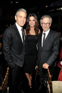 George Clooney, Sandra Bullock and Steven Spielberg