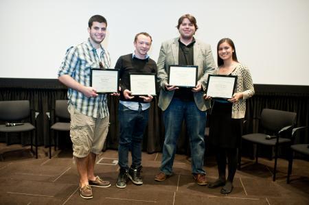 2013 Student Voices winner Cecilia De Jesus (r) and finalists