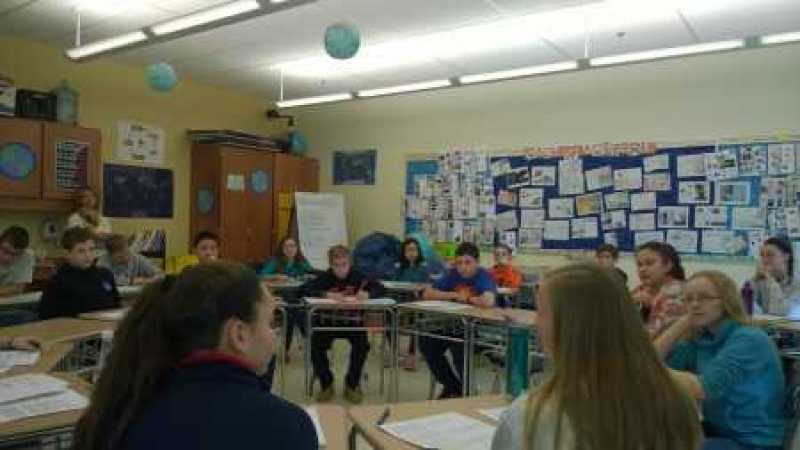 My class during their Socratic Seminar.