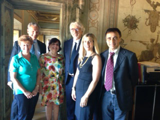Doris and Kim with representatives at the Central Institute in Rome