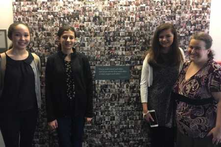 My three students and I visiting USC Shoah Foundation.