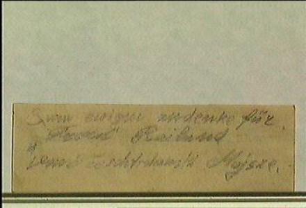 The note from Terezin preserved in Hana Fousova's testimony