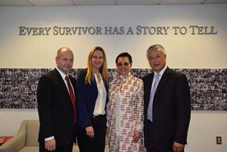 L-R: Stephen Smith, Karen Jungblut, Cecilia Chan and USC Trustee Ming Hsieh at USC Shoah Foundation