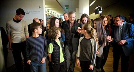 Junior interns with Steven Spielberg in Warsaw