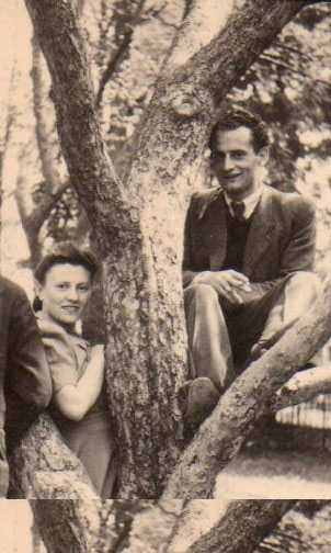 Faye and Harry Toporek, Auschwitz survivors from Lask, Poland, before coming to America.