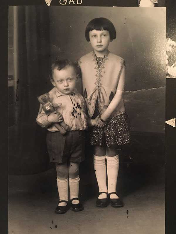My namesake Sidonie Cypra Gad who perished in Auschwitz January 1993 Convoi XV11 Deported from Malines/Mechelen Belgium Holding Camp which is now the Musee Juifs Belge Deporte. Sidonie was born in 1926. Here she is with her brother, Clemond, who passed away in 2014, Brussels, Belgium where I was born and spent my first 4 years. My parents were both Holocaust survivors.