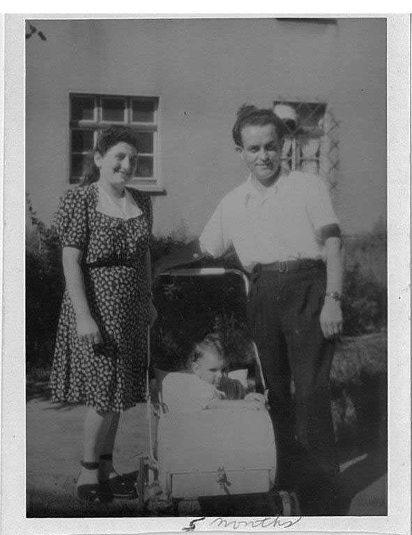 Jakob and Cyla Spiewak with Krysha starting life again after losing both their entire families Bergen Belsen DP Camp 1946.
