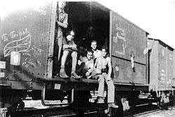 My mother's family getting out of Bergen-Belsen!