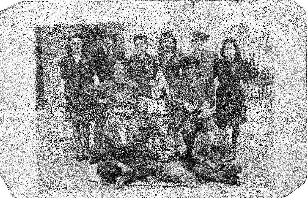 The last picture of my mother's family, the Goldners, before they were all taken away. Only five of the adults survived.