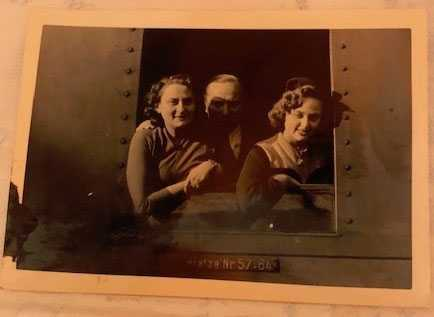 Finally, on the train, on the way to Freedom, to the U.S., my mother, stepfather, and me.