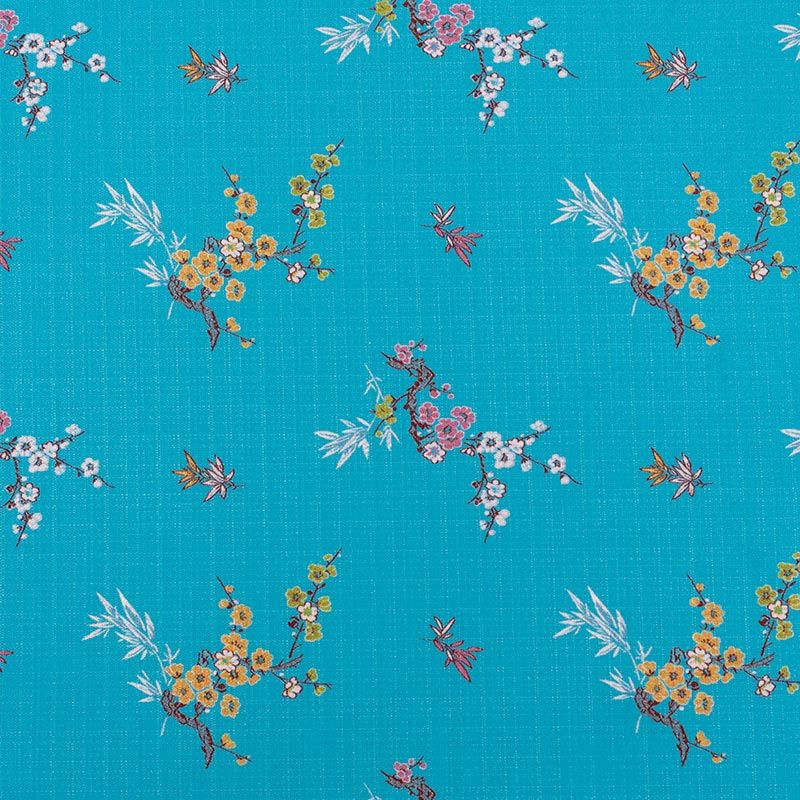 """This pattern is traditional in Chinese textile design and was chosen to represent the testimonies from survivors and witnesses of the 1937 Nanjing Massacre, housed in USC Shoah Foundation's Visual History Archive. In Chinese, the expression: """"上善若水"""" (shang shan ruo shui) means """"water is like charity, benefitting all things without struggle."""" Water seeks harmony. It is versatile, it can be a solid, liquid, or gas, and """"千变万化""""(qian bian wan hua), always capable of evolution and transcendence. The flowers oating on the water represent our memories, sometimes moving forward and sometimes backward. We remember the past and look toward the future.Learn more about the <a href=""""/collections/nanjing-massacre"""">Nanjing Collection</a>."""