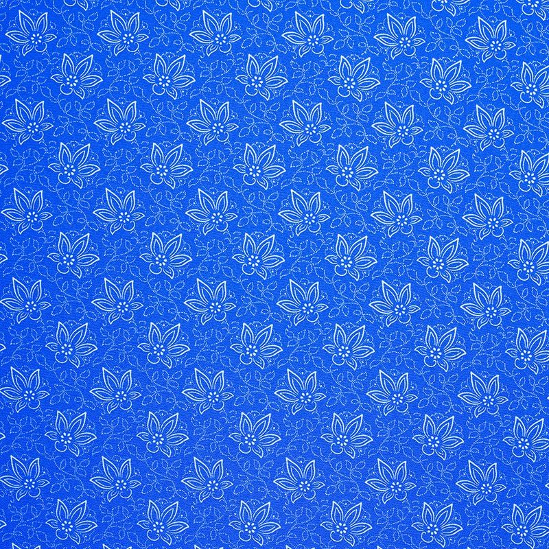 """In 1784, a small textile company specializing in a blue-dyeing technique was founded by Jewish business-owner Ferenc Goldberger (1755–1834). Over generations, his small family workshop, grew into the Goldberger National Company, recognized for producing the novelty fabric Bemberg Parisette rayon. The German invasion in 1944 resulted in the Goldberger family being deported. Owner Dr. Leó Buday-Goldberger was taken to Mauthausen where he died the day before liberation. The Hungarian fabric in the Lieber Family Quiet Study, honors the legacy of the Goldberger factory as a blue-dying manufacturer, and the tradition of printed floral patterns in Hungarian design. The Visual History Archive features 811 testimonies taken with survivors in Hungary. This pattern was chosen by Ágnes Kun, a Holocaust survivor whose testimony is in the Visual History Archive.Learn more about the <a href=""""/collections/holocaust"""">collection of testimonies from Holocaust survivors and other witnesses</a>."""