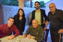 Clockwise from seated: Aleksan Markaryan, Aleksan Giragosian, Carla Garapedian, Manuk Avedikian, Agop Margarian