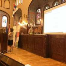 "Andrea Szonyi presents ""Personal Stories in Holocaust Education"" at Subotica Town Hall"
