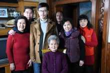 Survivor Wei Guiru and family